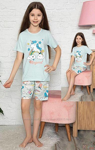 Пижама шортыфутболка с единорогом и радугой Magical Minimoon Оптом и в розницу