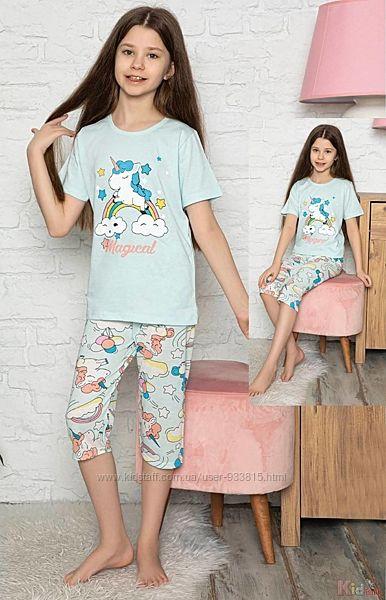 Пижама бриджифутболка с единорогом и радугой Magical Minimoon Оптом и в розницу