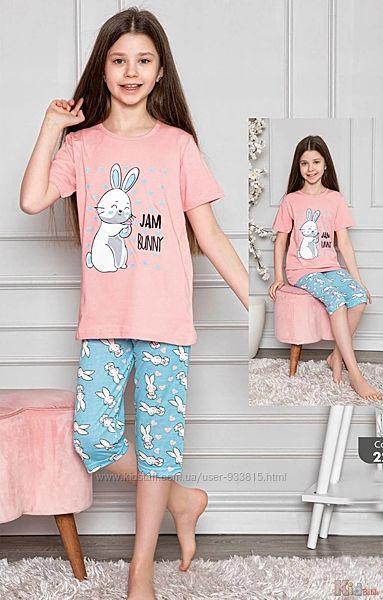 Пижама бриджифутболка с кроликом Jam Bunny для подростка Minimoon Оптом и в розницу