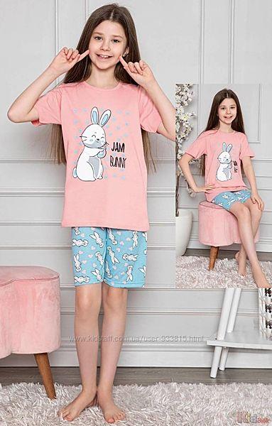 Пижама футболкашорты с кроликом Jam Bunny для подростка Minimoon Оптом и в розницу
