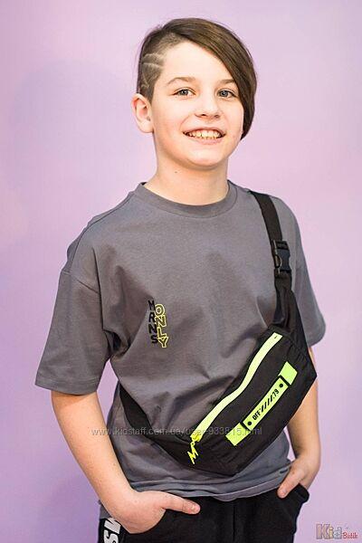 Футболка с сумкой - бананкой для мальчика Marions