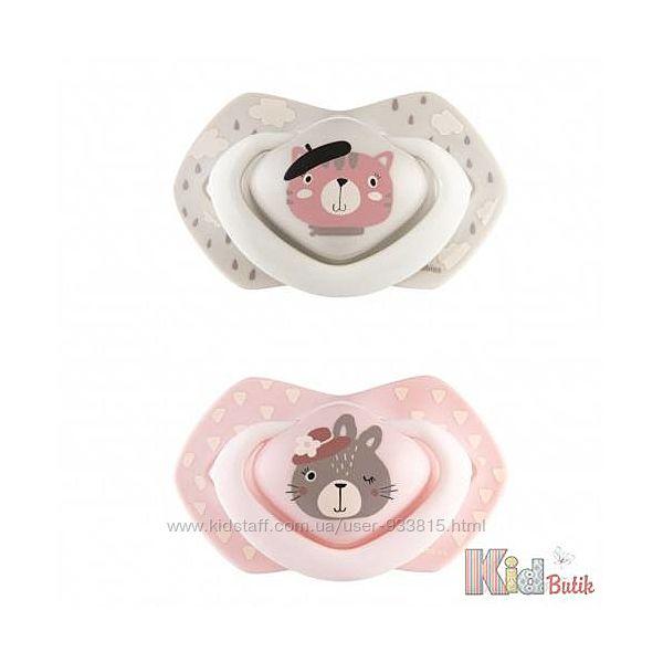 Пустышка силиконовая симетричная для девочки Canpol babies