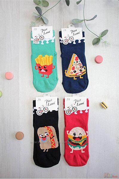 Носки высокие однотонные с рисунком Fast Food Pier Lone