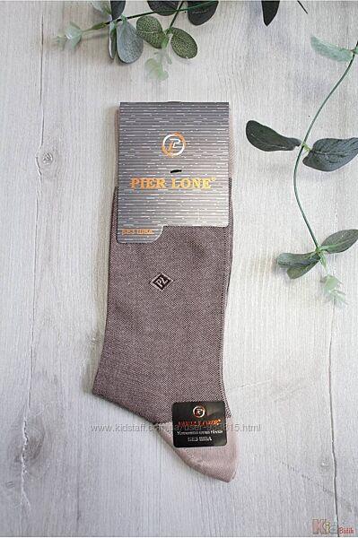 Носки высокие кофейные PL без шва р.41-44 для мальчика Pier Lone