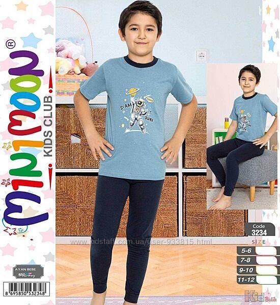Пижама футболкаштаны с космонавтом для мальчика-подростка Minimoon Оптом и в розницу