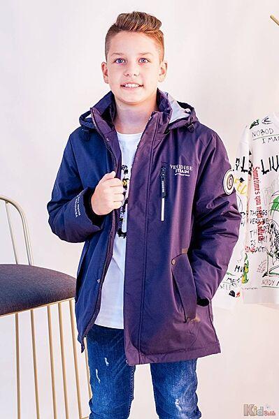 Куртка парка для мальчика синего цвета Venidise