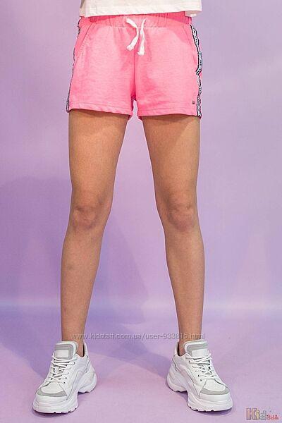 Шорты крутого светло-розового оттенка со стильными лампасами Tiffosi