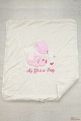 Одеялко-конверт  молочного цвета Aziz