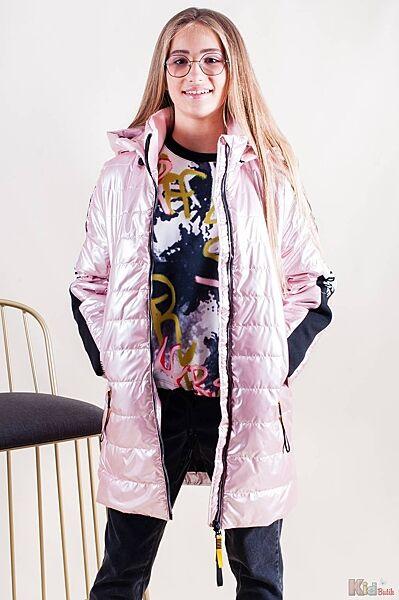 Куртка с текстильными вставками на рукавах для девочки Venidise
