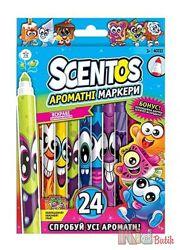 Набор ароматных маркеров - ТОНКАЯ ЛИНИЯ 24 цвета Scentos