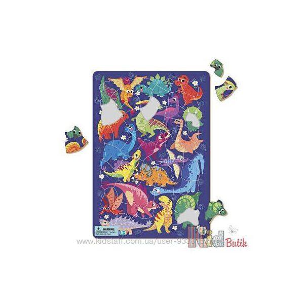 Пазл с рамкой Динозавры 5 Dodo Toys