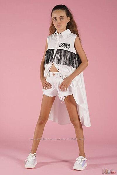 Блузка с бахромой для девочки FUN & FUN