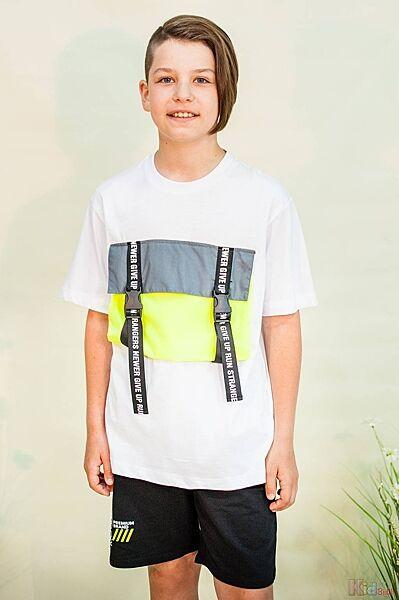 Футболка для мальчика с ярким карманом спереди Marions