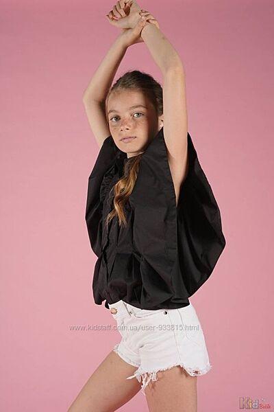 Блуза з рукавами-рюшами FUN & FUN