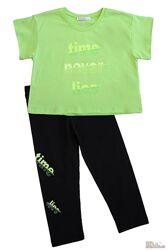 Комплект 2-ка салатового цвета для девочки NK Unsea