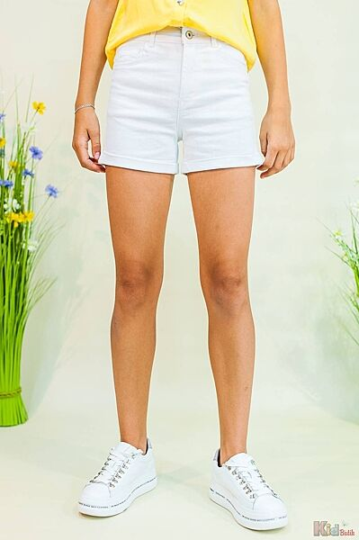 Шорты джинсовые белые Tiffosi