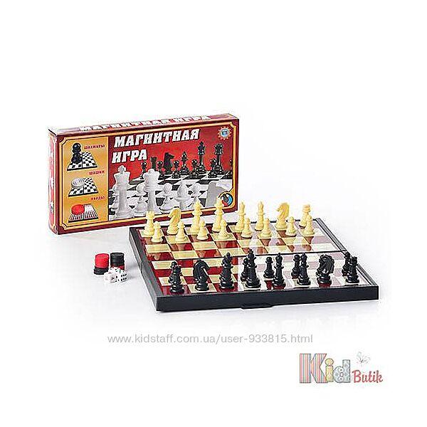 Игра настольная 3в1 - шахматы, шашки, нарды Metr Plus