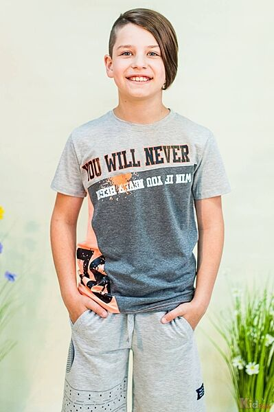 Футболка серого цвета для мальчика Mackays