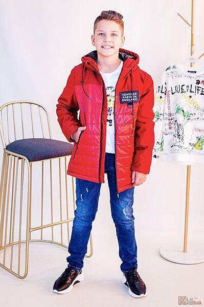 Куртка с нашивкой в красном цвете для мальчика Venidise