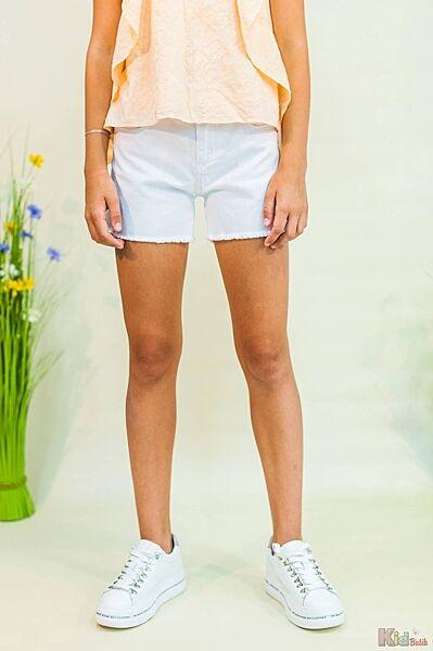 Шорты белые с бахромой для девочки Tiffosi