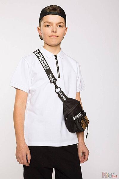 Тенниска белого цвета на молнии для подростка Reporter Young
