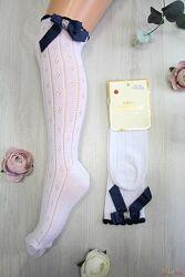 Гольфы белые ажурные с бантиком для девочки DBG socks