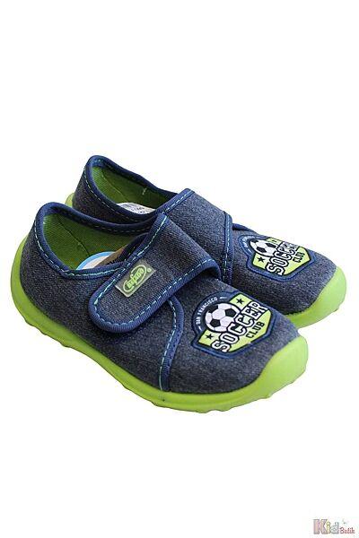 Тапочки синие с мячиком Soccer Club для мальчика Befado