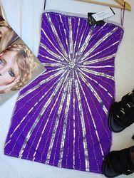 Нарядное платье NLY Trend с камнями пайетками и бисером