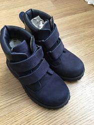 Кожаные ботинки, деми нубук Турция, размер 26