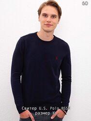 свитер джемпер мужской U. S. Polo ASSN, юс поло, темно синий, оригинал, ХЛ