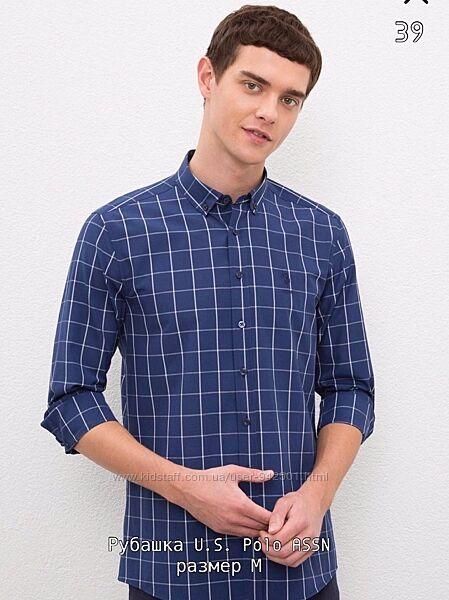 Рубашка мужская размер М, юс поло, US Polo ASSN, оригинал