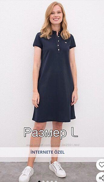 Спортивное платье поло U. S. Polo ASSN, юс поло оригинал, размер Л