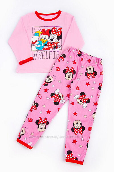 Детская тонкая пижама для девочки с накатом