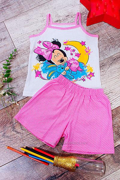 Детская летняя пижама, комплект для девочки