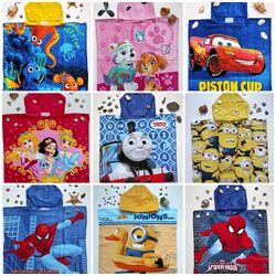 Полотенце пончо, детское полотеце, полотенце, пляжное полотенце, для детей