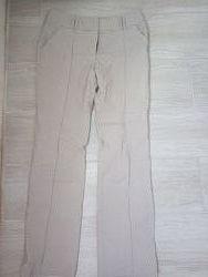 Плотные стрейчевые прямые штаны брюки серо-бежевого цвета Biaggini р.40/L