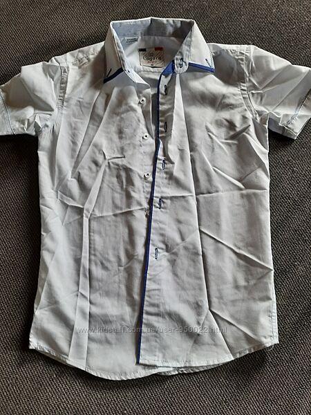 Рубашки на мальчика с коротким рукавом на 10лет