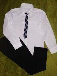 Нарядная белая рубашка и брюки F&F на 9-10лет р.140