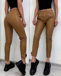 Женские брюки из эко-кожи  разные цвета