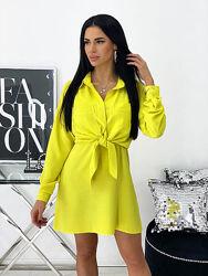 Платье летнее с рубашкой разные цвета