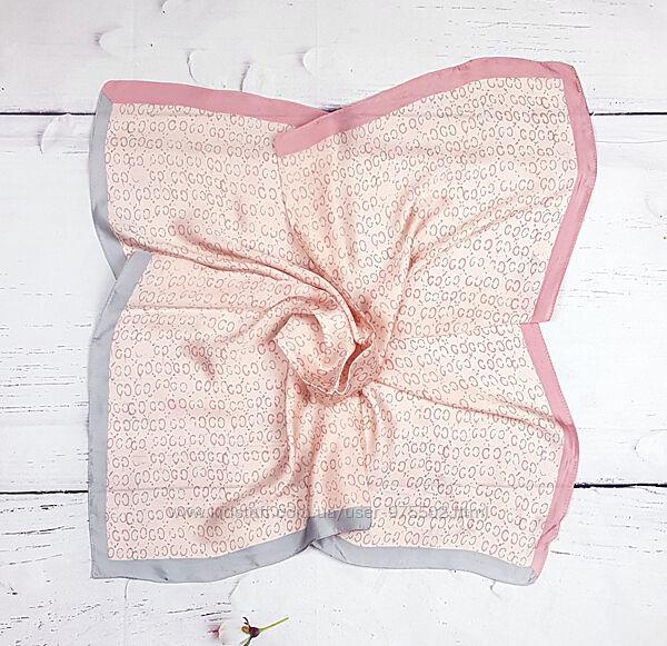 Шелковый шейный платок твилли косынка лента для волос