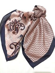 Шейный платок атласная косынка повязка твилли