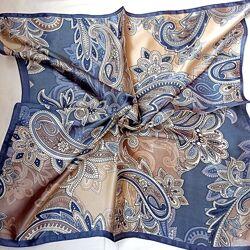 Шейный платок атласная косынка в расцветках