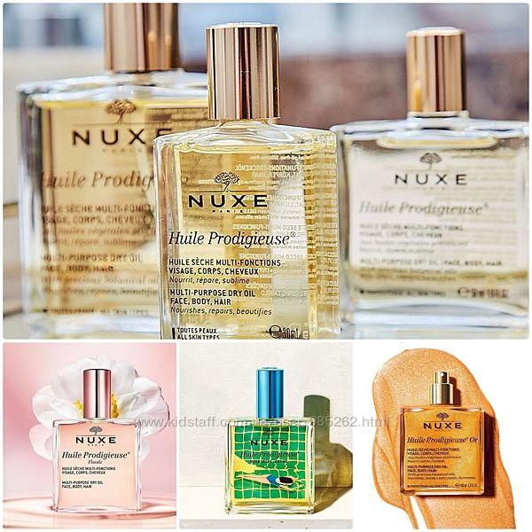 Nuxe prodigieuse dry oil сухое масло для волос, лица и тела все виды