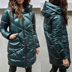 Тёплая стильная куртка в 3 цветах