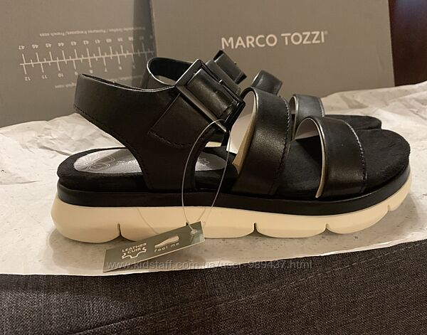 Кожаные сандалии marco tozzi 38 размера