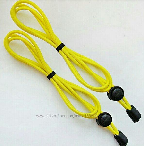 Шнурки-резинки желтые. Еластичні шнурки з фіксатором.