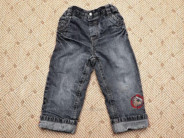 Теплые зимние штаны, джинсы с флисовой подкладкой Baby club C&A р.86