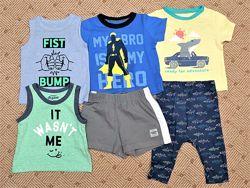 Летние шорты, футболка, майка, штаны р.6-12 мес. Oshkosh/Carters, Old Navy