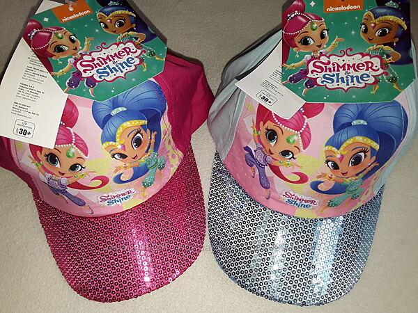 Шикарная кепка Nickelodeon для девочки 4-10 лет, хлопок, Шиммер и Шайн.